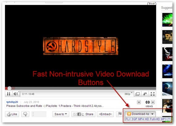 Video Download Buttons